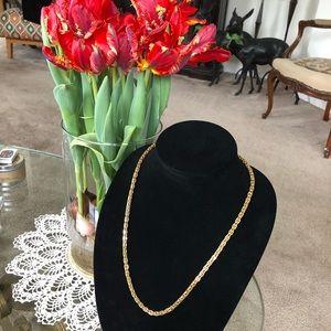 """Vintage 24"""" Monet Gold Chain Necklace"""